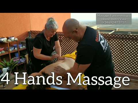 4 Hands Massage by 🧘Kasia 🏋️ Peter #relaxingmassage  #slimming #Firming  #hotstone  #leg  #buttock