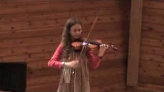 Sarah Hamrin age 11 viola Tambourin by Hervelois