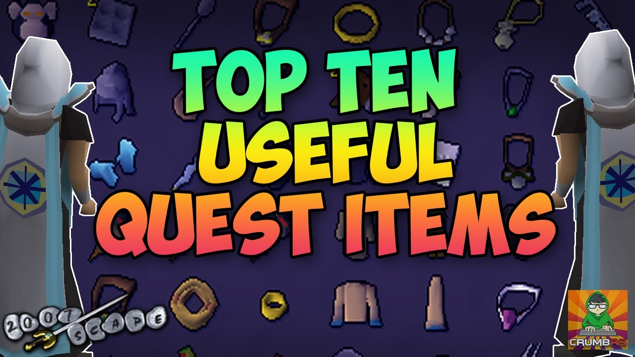 Osrs Top Ten Useful Quest Items Youtube You have to do all miniquests that are required for quests (duh) + the it's called the 'quest point cape', meaning you need max (250) quest points to wear it, not just complete all quests osrs top ten useful quest items