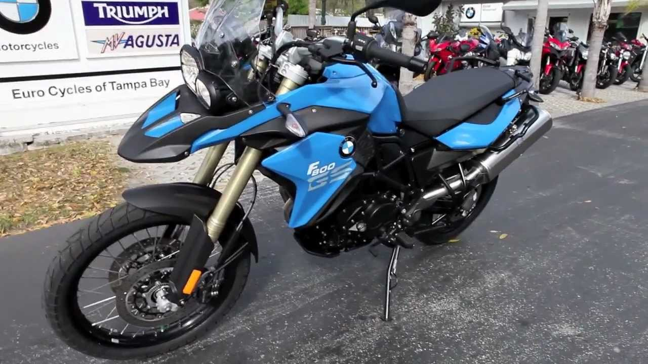 2013 Bmw F800 Gs Blue At Euro Cycles Of Tampa Bay