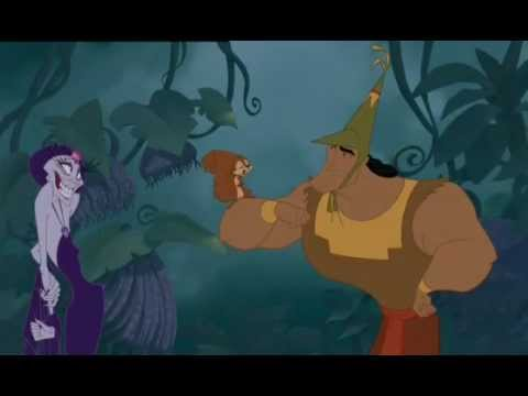 Kronk with the Squirrel - The Emperor's New Groove.