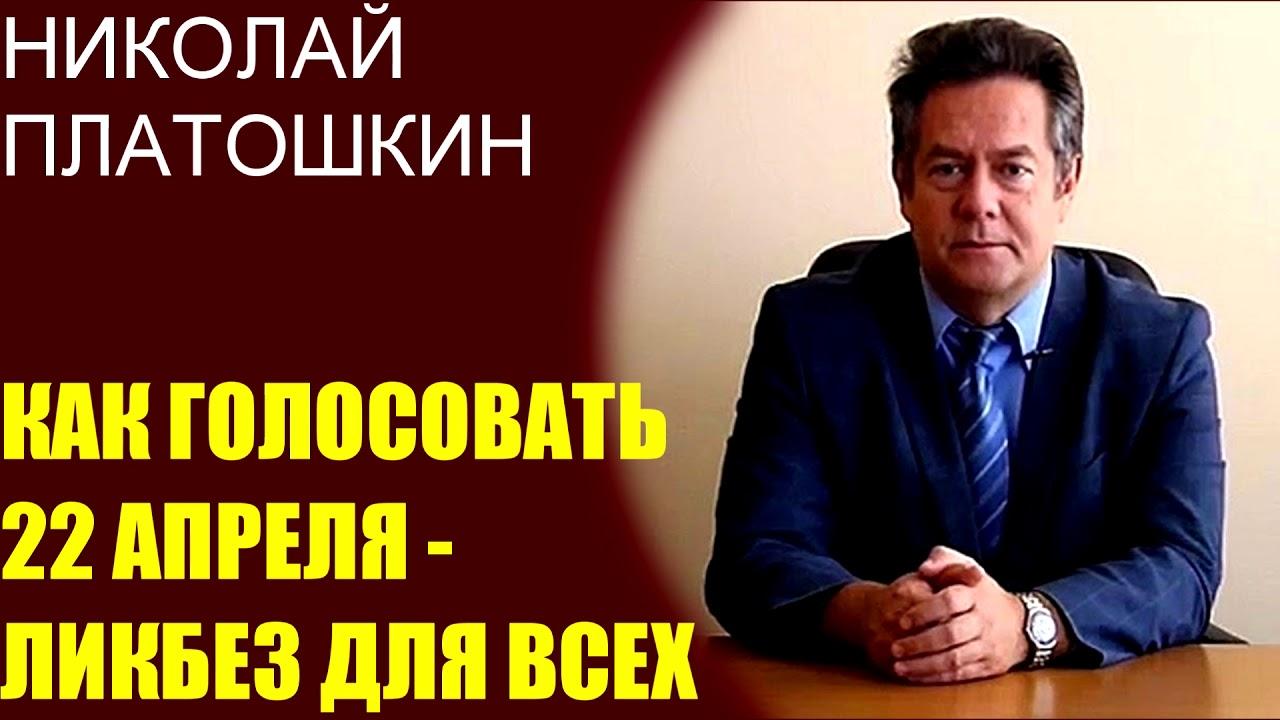 Николай Платошкин - как голосовать 22 апреля по поправкам