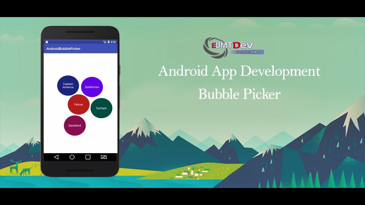 Android Studio Tutorial - Bubble Picker
