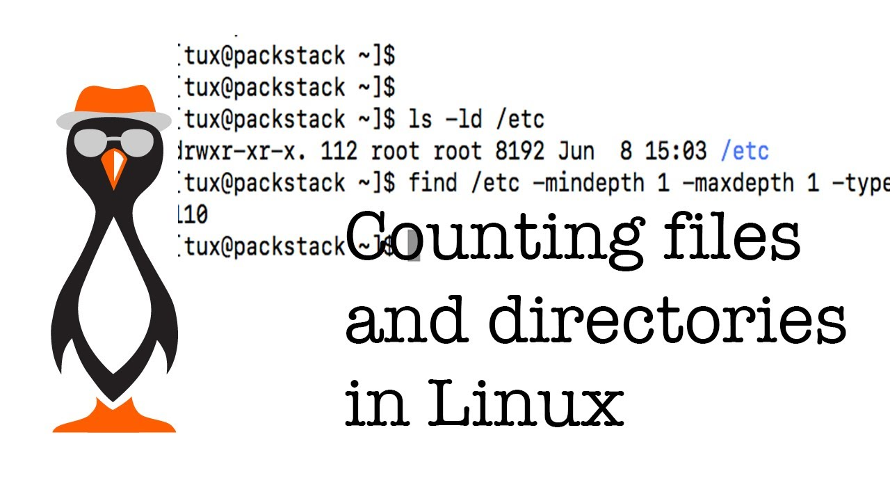 Counting Files and Directories in Linux - The Urban Penguin