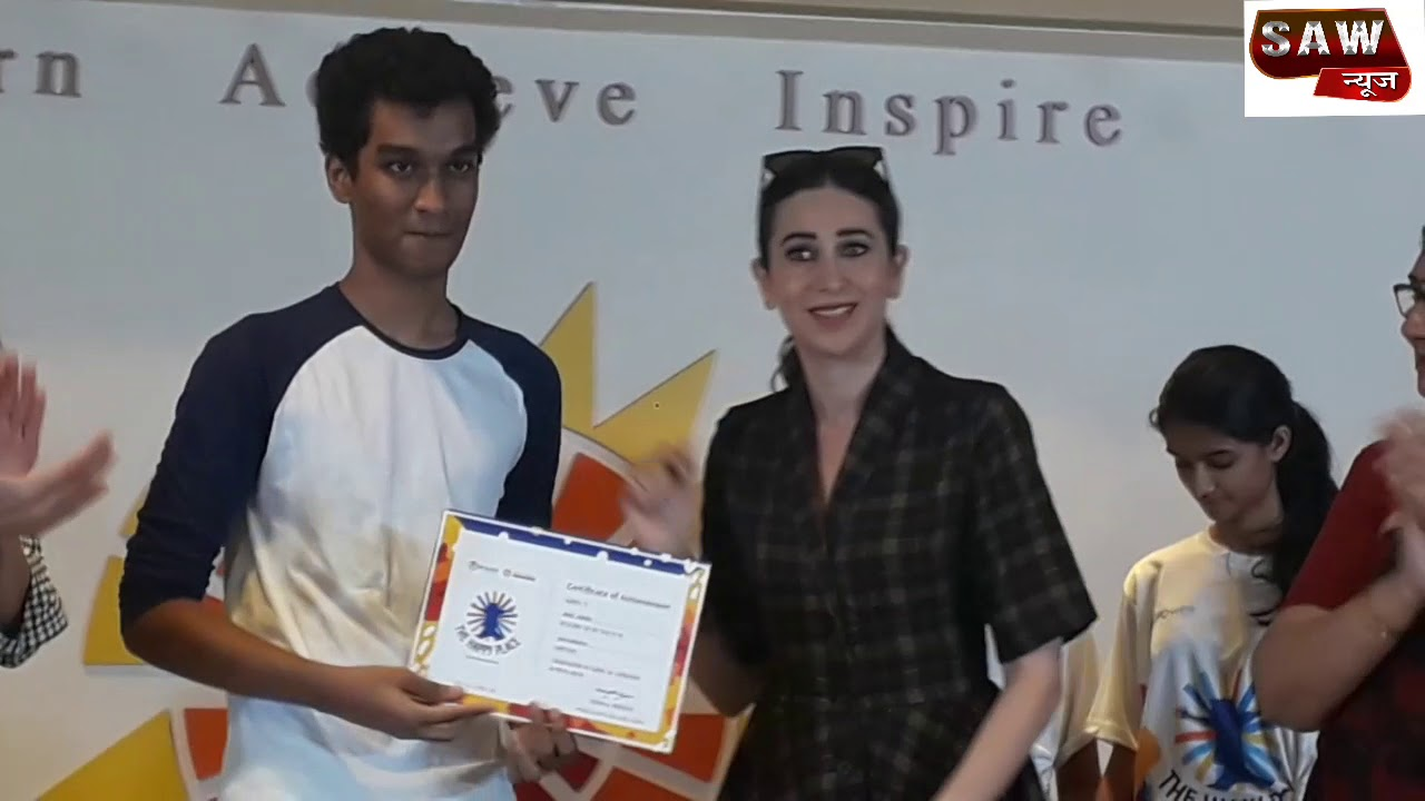 Karishma Kapoor Appreciate The Student Of Aditya Birla World Academy &  Distribute Certificate