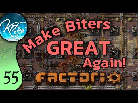 Factorio Ep 55: SMELTING ODD RATIOS - Make Biters GREAT Again! - Mod, Let's Play, Gameplay