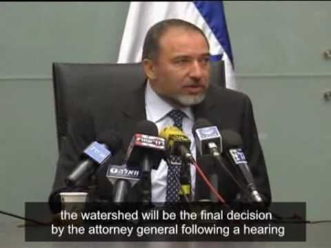 Israel Avigdor Lieberman will resign if prosecuted