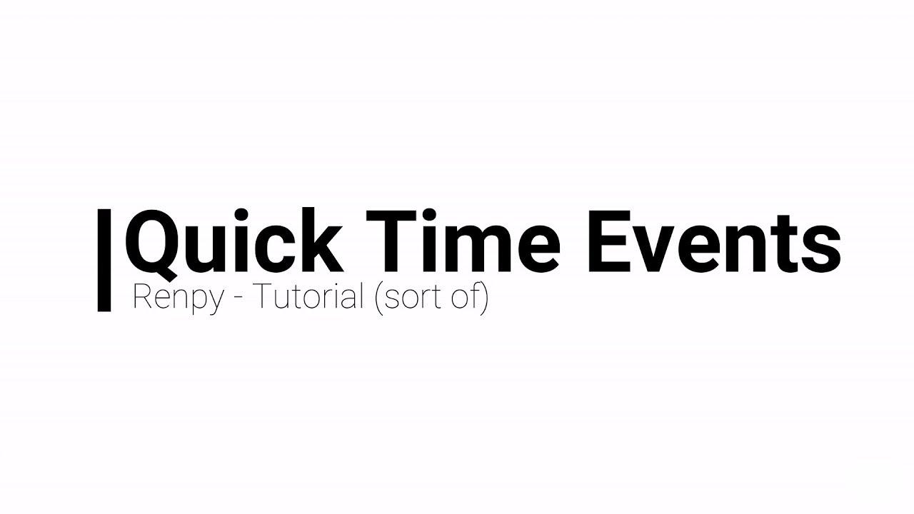 Repeat Quick Time Event (QTE) | Renpy Tutorial by papiersam
