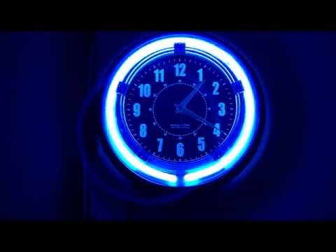 Blue NEON Wall Clock.