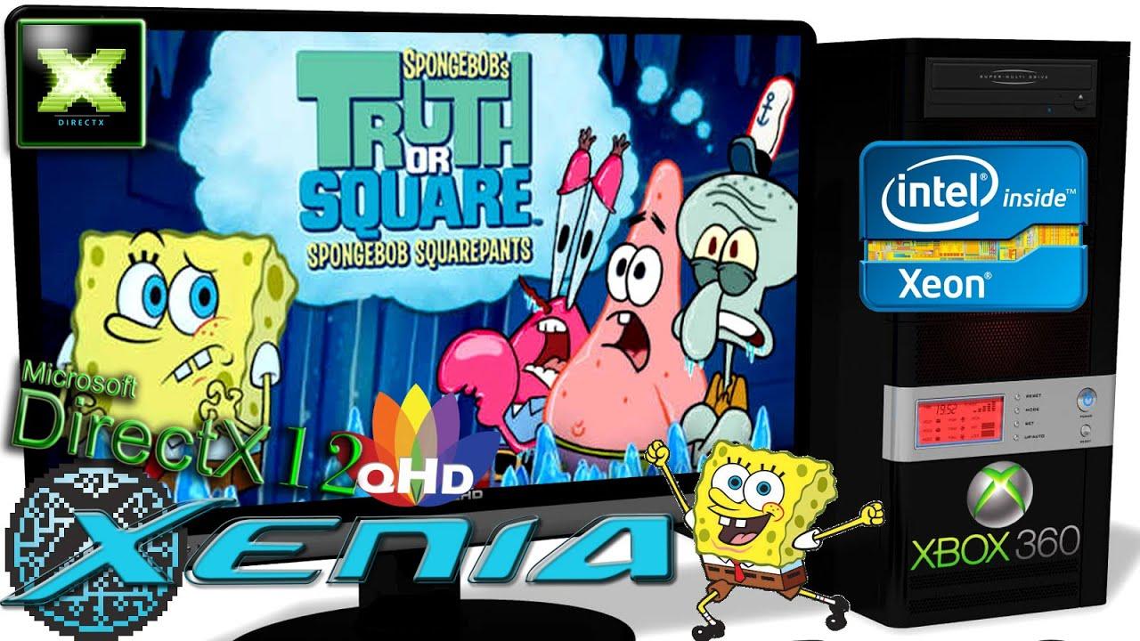 XENIA [Xbox 360 Emulator] - SpongeBob's Truth or Square [QHD-Gameplay] June 30.2020 #6