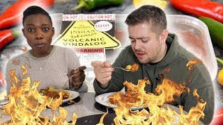 VOLCANIC VINDALOO CHALLENGE *SPICY CURRY* | Bradley Chlopas