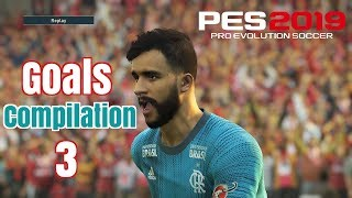 Pes 2019 - Goals -Skills & Goalkeeper Saves- Compilation #3- PS4 - HD