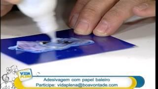 Artesanato – Técnica de adesivagem