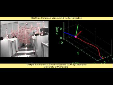 Real Time Consistent Vision Aided Inertial Navigation