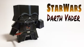 Darth Vader Star Wars Paper Crafts tutorial !