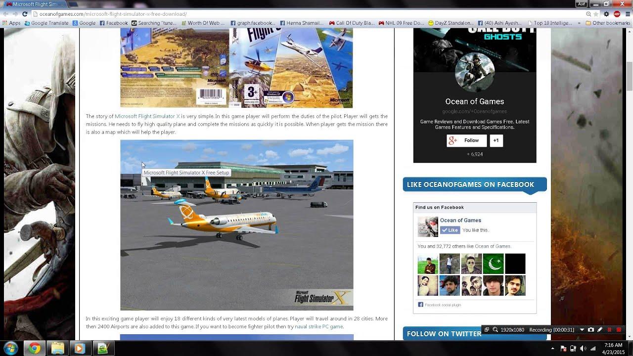 microsoft flight simulator x download ocean of games