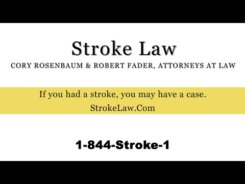 Stroke Lawyer: If you sue and lose, you pay no legal fees.