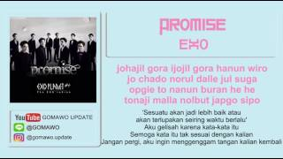 LIRIK EXO - PROMISE by GOMAWO [LIRIK KOREA, INDONESIA & SONG PHOTO COVER]