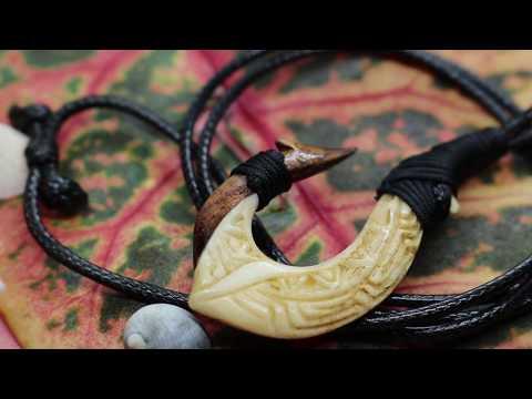 Hawaiian Fishing Hook Necklace.