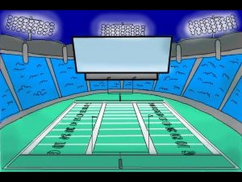how to draw a football stadium youtube how to draw a football stadium