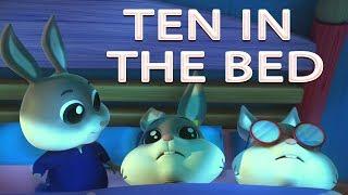 dez na cama   canção para crianças   poema do bebê   Ten In The Bed   Counting Song   Kids Rhyme
