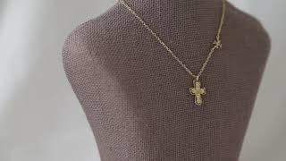 14k Diamond Cross necklace(다이아…
