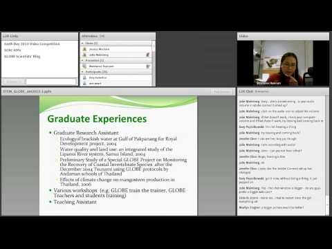 GLOBE Webinar: STEM Career Speaker (Watcharee Ruairuen)