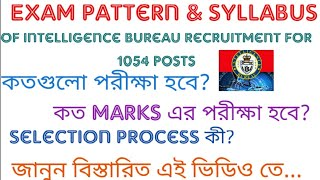 Exam pattern & Syllabus of Intelligence Bureau recruitment in 1094 posts || Described in bengali