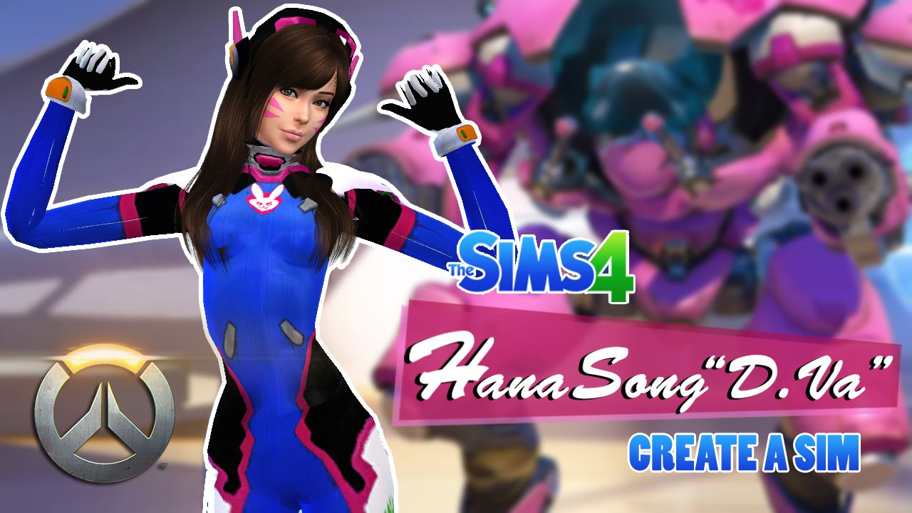The Sims 4: D Va | Overwatch Create-A-Sim | Collab w/ KantoGaming