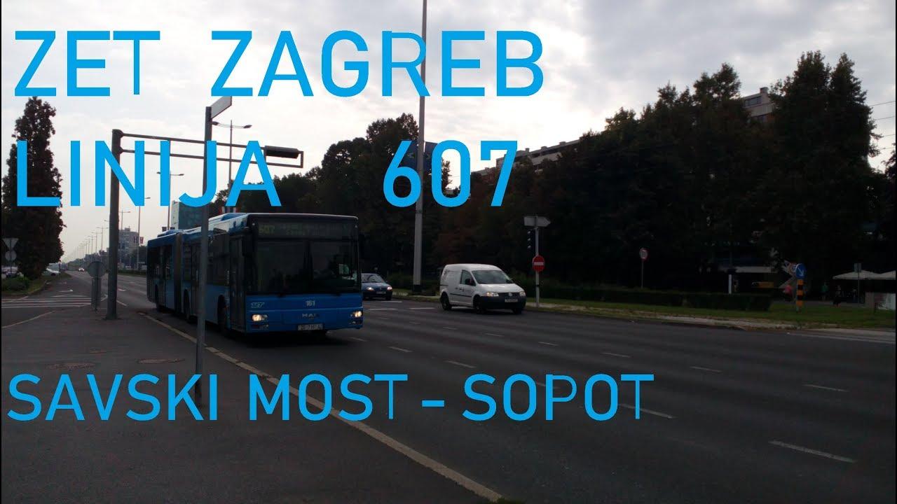 Zet Zagreb Man Ng 313 Posebna Linija 607 Savski Most Sopot