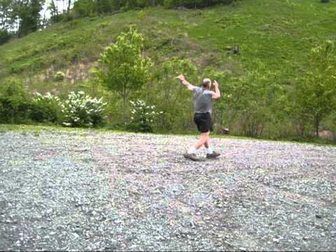 weight throw trip stumble and fall.wmv