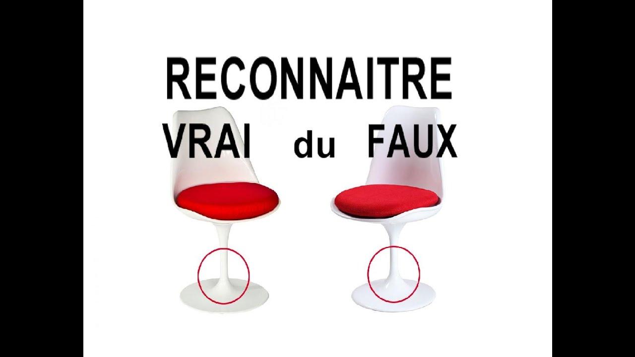 DIY TUTO Reconnatre Sige Vintage Tulip Knoll Design Saarinen Vrai Du Faux