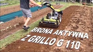 11 KM traktor jednoosiowy z broną aktywną / wirnikową | Główny importer maszyn Grillo i R2 w Polsce