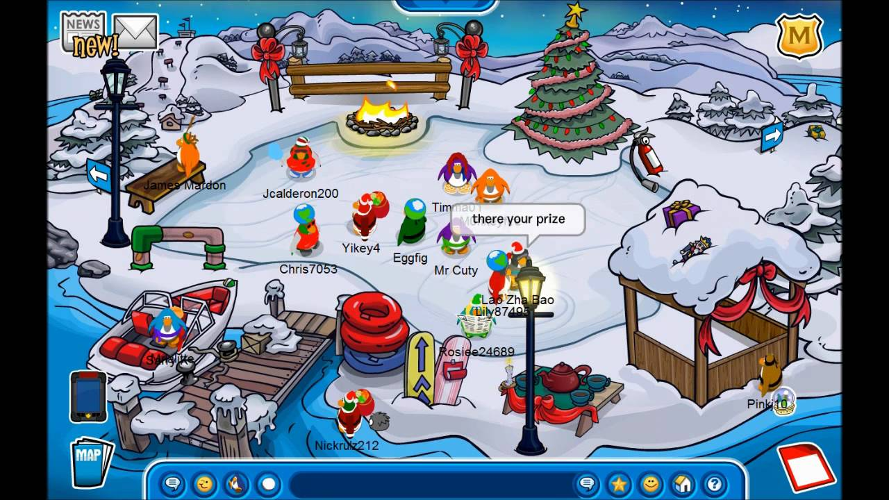 Club Penguin Christmas 2010! - Snow