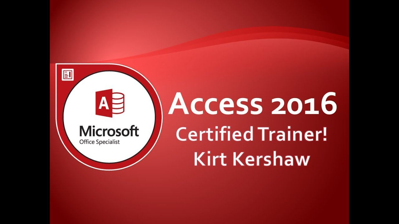 Access 2016: Basic Introduction to Tables, Queries, Forms & Reports