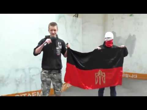 Polish patriots are humiliating UPA flag Ukrainian nazi collaborators organization