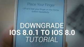 How To Downgrade From iOS 8.0.1 To iOS 8