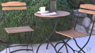 """French Café 24"""" Folding Table Bistro Set - Product Review Video"""