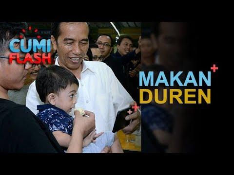 Makan Duren, Jokowi Selfie Bareng Jan Ethes - CumiFlash 28 November 2017