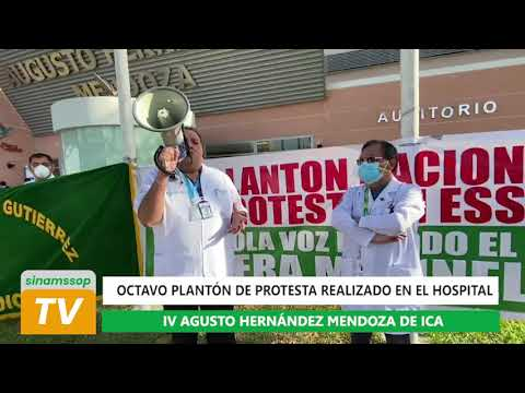 Octavo plantón de protesta realizado en el Hospital IV Augusto Hernández de Ica