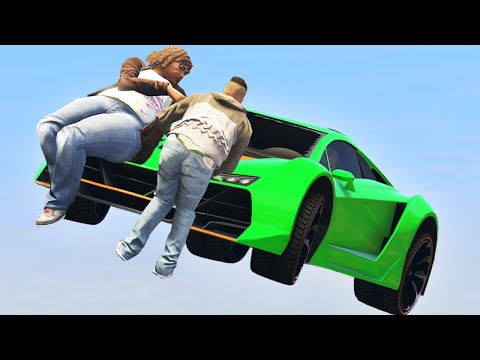 FLYING CARS vs. RUNNERS! (GTA 5 Funny...