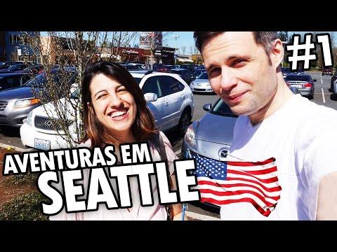 Aventuras em SEATTLE #1 - OUTLET BARATO, HOTEL, COMENDO COMO BÁRBAROS, ANIVERSÁRIO e SEM SONO - EUA