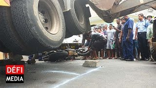 Accident fatal : la longue et difficile opération pour retirer la moto de Ryan Azie