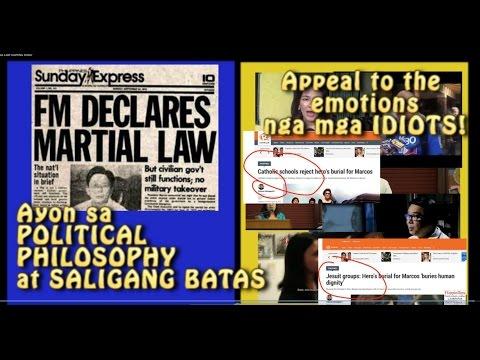 PAANO GAWING BOBO ANG mga FILIPINO TUNGKOL SA MARTIAL LAW