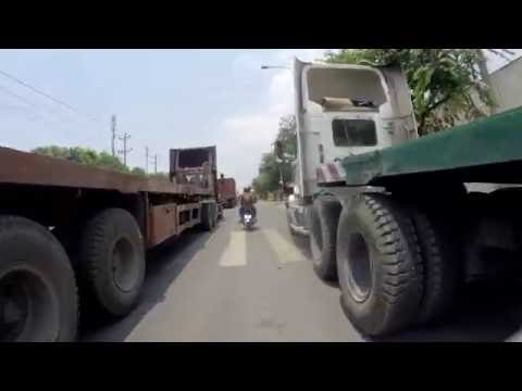 From Binh Duong to Ho Chi Minh CIty by Electricity bicycle (2016)