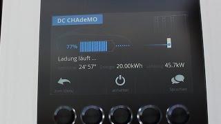 2016 30 kWh Nissan Leaf  - komplette CHAdeMO Ladung + LeafSpy