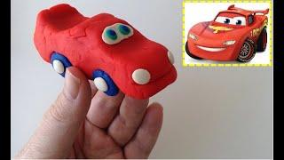 Oyun Hamurundan Araba & Şimşek Mcqueen - shapes from play doh 面团的形状