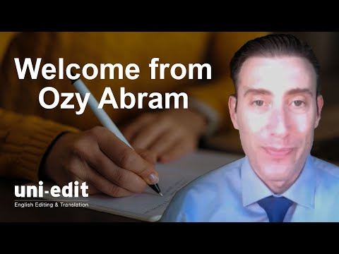 Welcome to Uni-edit from Ozy Abram, Chief Editor