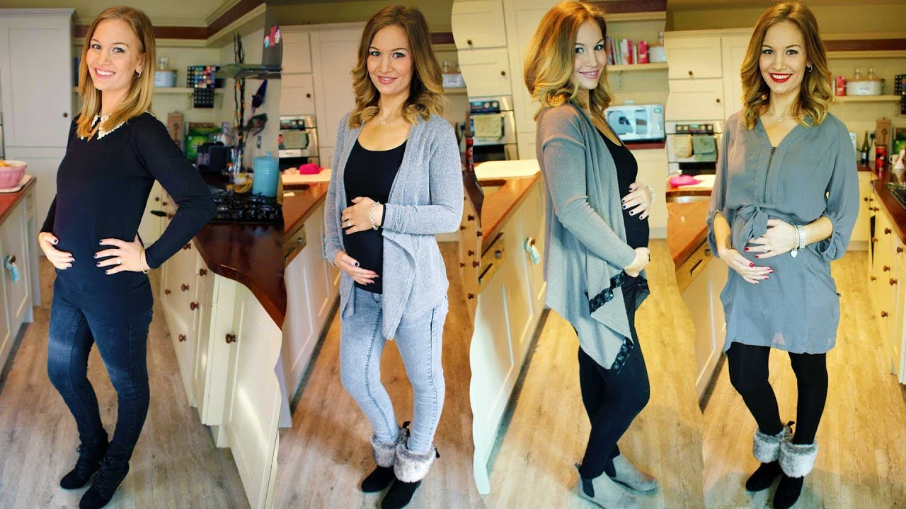 5 Months Pregnant Outfit Ideas! - YouTube