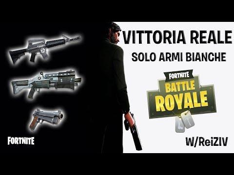 VITTORIA SOLO ARMI BIANCHE! w/Reiziv |Fortnite [ITA]|